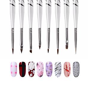 ieftine Îngrijire Unghii-8pcs Perii de unghii Pentru Unghie Unghie deget picior Design Modern / Novelty nail art pedichiura si manichiura Perie mică / Tradițional / Clasic / Cute Stil Practică / Folosire Profesională / Birou