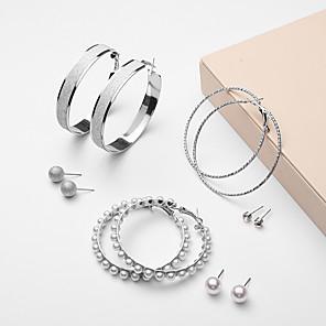 ieftine Produse Fard-Pentru femei Cercei Set Stl femei European Modă Imitație de Perle Ștras cercei Bijuterii Auriu / Argintiu Pentru Party / Seara 6 perechi