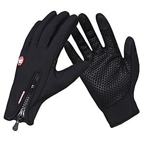 ieftine Mănuși Cycling-Iarnă Mănuși de Iarnă Mănuși pentru ciclism Ciclism montan Keep Warm Ecran tactil Rezistent la Vânt Respirabil Deget Întreg Mănușă Touchscreen Activități/ Mănuși de sport Lână Gel de silicon Negru