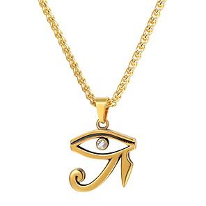 levne Náhrdelníky-Pánské Náhrdelníky s přívěšky Eye of Horus Módní egyptský Hip Hop Nerez Černá Zlatá Stříbrná Silver Eye of Horus Golden Eye of Horus 55 cm Náhrdelníky Šperky 1ks Pro Dar Denní