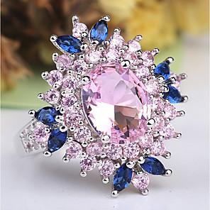 ราคาถูก แหวน-สำหรับผู้หญิง คำชี้แจง Ring แหวน Amethyst 1pc สีชมพู ทองแดง Platinum Plated เลียนแบบเพชร สุภาพสตรี ไม่ปกติ ดีไซน์เฉพาะตัว งานแต่งงาน ปาร์ตี้ เครื่องประดับ หลายเลเยอร์ สไตล์ เล่นไพ่คนเดียว Flower