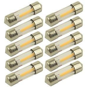ieftine Car Signal Lights-10pcs 31mm Mașină Becuri 1 W COB 100 lm 1 LED Bec Semnalizare Pentru