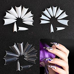 ieftine Produse Fard-500piese False Nails Pentru Unghie Creative / Modele multiple nail art pedichiura si manichiura Simplu / Model Geometric / Retro Petrecere / Purtare Zilnică