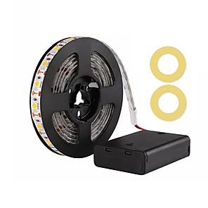 ieftine Benzi Lumină LED-Zdm 200cm / 6.56ft impermeabil 5050 smd 10mm led alb cald / alb rece / roșu / albastru / verde lumină cu panglică aa lumini cu baterie led dc5.5v