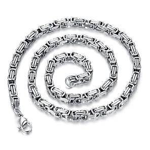 povoljno Halloween smink-Muškarci Duga ogrlica Jedna vrpca Kreativan Rock Korejski Titanium Steel Pink 60 cm Ogrlice Jewelry 1pc Za Dnevno