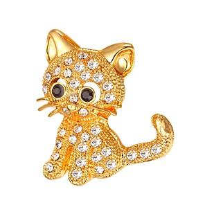 ieftine Broșe-Pentru femei Broșe Stl Animal femei Modă Broșă Bijuterii Auriu Argintiu Pentru Cadou Zilnic