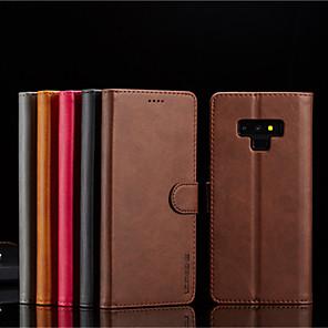 povoljno Maske/futrole za J seriju-Θήκη Za Samsung Galaxy Note 9 / Note 8 Novčanik / Utor za kartice / sa stalkom Korice Jednobojni Tvrdo PU koža