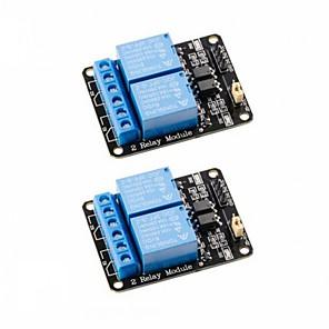 ieftine Senzori-2 buc 2 canale dc 5v releu modul cu optocoupler nivel scăzut de declanșare panou de expansiune pentru arduino uno r3 mega 2560