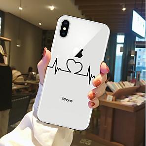 ieftine Carcase iPhone-Maska Pentru Apple iPhone X / iPhone 8 Plus / iPhone 8 Transparent / Model Capac Spate Inimă Moale TPU
