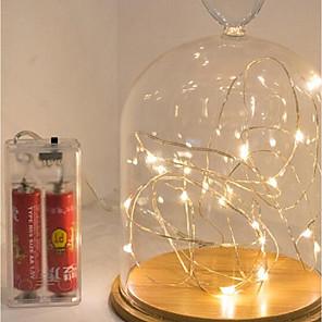 ieftine Materiale Pentru Artizanat-3m lumini șir 30 LED-uri rezistent la apa baterii aa alimentate Crăciun festival noul cadou lampă de ani