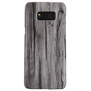 Недорогие Чехол Samsung-Кейс для Назначение SSamsung Galaxy S8 Plus / S8 / S7 edge Ультратонкий Кейс на заднюю панель Имитация дерева Твердый ПК