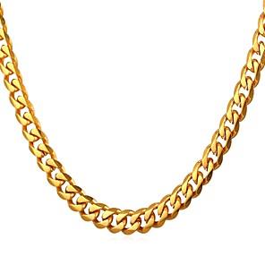 ieftine Produse Fard-Bărbați Lănțișoare Link / Lanț La modă Rock Modă Teak Negru Auriu Argintiu 55 cm Coliere Bijuterii 1 buc Pentru Cadou Zilnic