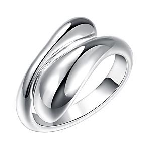 ieftine Inele-Pentru femei Band Ring inel de înfășurare degetul mare Argintiu Argilă Aliaj femei Neobijnuit Design Unic Petrecere Bijuterii Ajustabil