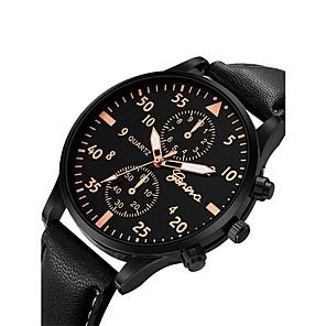 ieftine HDMI-Bărbați Ceas de Mână Aviation Watch Quartz Supradimensionat Piele Negru / Albastru / Maro Cronograf Draguț Ceas Casual Analog Atârnat Modă Aristo - Argintiu / alb Roz auriu / Alb Negru / Roz auriu Un