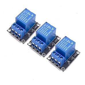 ieftine Senzori-3pcs Modul releu 5v pentru arduino braț pic avr mcu 5v indicator luminos a condus 1 canal releu modul