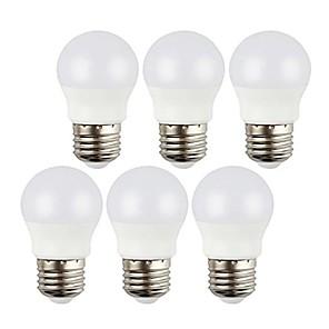 ieftine Becuri LED Glob-6pcs 3w 400lm e27 becuri glob globe decorative rece alb / cald alb ac220-240v lampadas nu flicker becuri de iluminat interior led