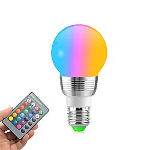 ieftine Becuri LED Glob-1pc rgb schimbarea culorilor e27 e14 rgb led bec cu LED-uri lumina spot bec bec ir telecomandă acasă cameră de zi decorare