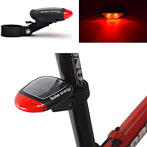 ieftine Audio & Video-LED Lumini de Bicicletă Iluminat Bicicletă Spate lumini de securitate Ciclism montan Bicicletă Ciclism Rezistent la apă Model nou Energie solară 100 lm Roșu Ciclism / ABS