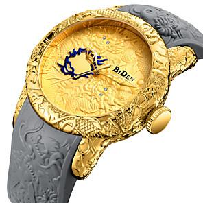 ieftine Imbracaminte & Accesorii Căței-Bărbați Ceas Sport Ceas de Mână Quartz Japonez Lux Ceas Casual Silicon Negru / Gri Analog - Negru Auriu Un an Durată de Viaţă Baterie / Japoneză / Japoneză