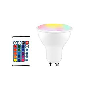 ieftine Spoturi LED-1 buc 5 W Spoturi LED 350 lm GU10 E26 / E27 3 LED-uri de margele SMD 5050 Smart Intensitate Luminoasă Reglabilă Telecomandă RGBW 85-265 V / RoHs