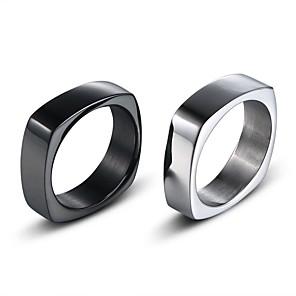 ieftine Inele-Bărbați Band Ring 1 buc Negru Argintiu Articole de ceramică Geometric Shape Stilat Simplu Vintage Zilnic Stradă Bijuterii Stil Vintage Clasic Creative Cool
