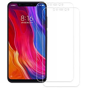 Недорогие Чехлы и кейсы для Xiaomi-asling протектор экрана для xiaomi xiaomi mi 8 закаленное стекло 2 шт. защита переднего экрана 9ч. твердость / 2.5d изогнутый край / взрывозащита