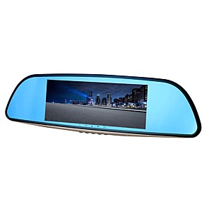 cheap Tablet Screen Protectors-ZIQIAO XR701 Full HD 1080P 7 inch IPS Night Vision Car DVR 140 Degree Wide Angle CMOS Sensor Mirror Camera Video Recorder Dual Lens Registrar Rear View Dvrs Dash Cam
