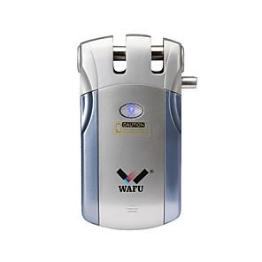 wafu® trådløs smart ekstern dørlås nøkkelfri inngangsdørlås fjernbetjeningslås (wf-018) 4 fjernnøkler