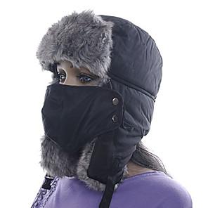 ieftine Cagule și măști pentru față-Bărbați Pentru femei Chapka Căciulă Blană Sporturi de Iarnă Keep Warm Poliester Face Mask Pălării Ținută Ski