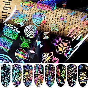 povoljno Šminka i njega noktiju-8 pcs 3D Nail Naljepnice Csillag nail art Manikura Pedikura Najbolja kvaliteta Moda / Šarene Dnevno / Festival