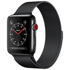 preiswerte Uhren Zubehör-Edelstahl Uhrenarmband Gurt für Apple Watch Series 4/3/2/1 Schwarz / Blau / Silber 23cm / 9 Zoll 2.1cm / 0.83 Inch