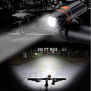 ieftine Lumini de Bicicletă-LED Lumini de Bicicletă Iluminat Bicicletă Față XP-G2 Ciclism montan Bicicletă Ciclism Rezistent la apă Portabil Eliberare rapidă Ușor Li-polymer 350 lm Reîncărcabil Built-in baterie Li-Powered USD