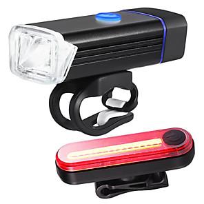 povoljno Maske/futrole za Xiaomi-LED Svjetla za bicikle Set svjetala za bicikl s mogućnošću punjenja Stražnje svjetlo za bicikl sigurnosna svjetla XP-G2 Brdski biciklizam Bicikl Biciklizam Vodootporno Prijenosno Quick Release Mala