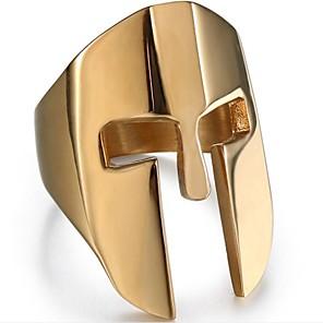 povoljno Prstenje-Muškarci Midi prsten 1pc Crn Zlato Srebro Titanium Steel Geometric Shape Vintage Dnevno Jewelry Vintage Style Kreativan Cool