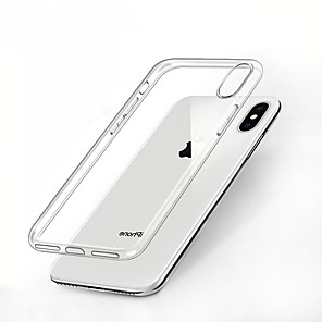 abordables Coques d'iPhone-Coque Pour Apple iPhone XS / iPhone XR / iPhone XS Max Antichoc / Transparente Coque Couleur Pleine Flexible TPU