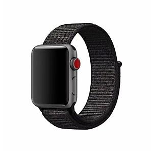preiswerte Uhren Zubehör-Nylon Uhrenarmband Gurt für Apple Watch Series 4/3/2/1 Schwarz / Silber / Orange 23cm / 9 Zoll 2.1cm / 0.83 Inch