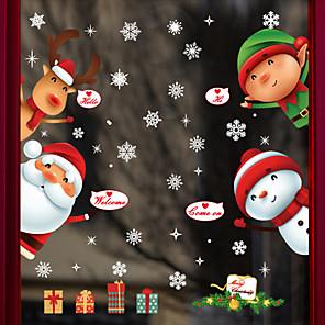 povoljno Ukrasne naljepnice-Božić 60 cm 90 cm Naljepnica za prozor / Divan / smiješno Spavaća soba / Dnevna soba PVC
