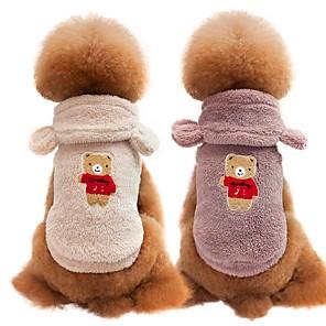 ieftine Imbracaminte & Accesorii Căței-Câini Pisici Haine Γιλέκο Iarnă Îmbrăcăminte Câini Alb Mov Rosu Costume Mops Bichon Frise Snautzer 100% Lână Coral Mată Casul / Zilnic Modă S M L XL XXL