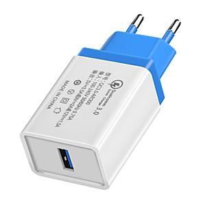olcso Kijelző port-Töltő otthoni használatra / Hordozható töltő USB töltő EU konnektor QC 3.0 1 USB port 3.5 A 100~240 V mert Univerzalno