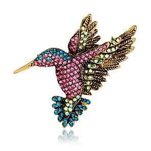 povoljno Broševi-Žene Broševi Vintage Style 3D Ptica Sa životinjama dame Jedinstven dizajn Vintage Svaki dan fantazija Umjetno drago kamenje Pozlaćeni Broš Jewelry Duga Za Večer stranka Ulica