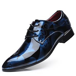 povoljno Muške oksfordice-Muškarci Formalne cipele PU Proljeće Posao Oksfordice Bijela / Crvena / Plava