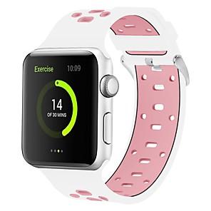 tanie Etui / Pokrowce do Huawei-Żel krzemionkowy Watch Band Pasek na Apple Watch Series 4/3/2/1 Czarny / Biały / Niebieski 23cm / 9 cali 2.1cm / 0.83 cala