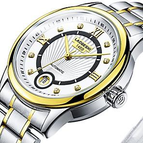 ieftine Cercei-Bărbați Pentru cupluri Ceas Elegant ceas mecanic ceas de aur Japoneză Mecanism automat Supradimensionat Oțel inoxidabil Argint 30 m Rezistent la Apă Iluminat Mare Dial Analog Clasic Casual Modă -