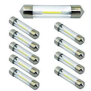ieftine Car Signal Lights-10pcs 41mm Mașină Becuri 1 W COB 100 lm 1 LED Bec Semnalizare Pentru