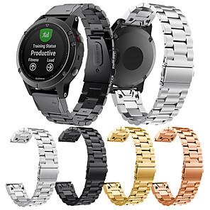 Недорогие Часы и ремешки Garmin-Ремешок для часов для Fenix 5 / Fenix 5 Plus / Forerunner 935 Garmin Бабочка Пряжка Нержавеющая сталь Повязка на запястье