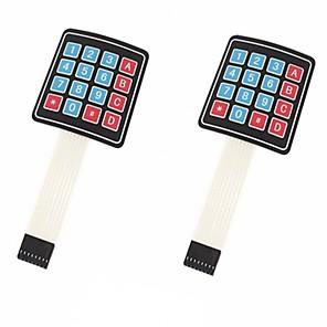 ieftine Becuri Solare LED-Matrice de matrice 4 x 4 16 tastatură tastatură tastatură pentru arduino / avr / pic (2-pack)
