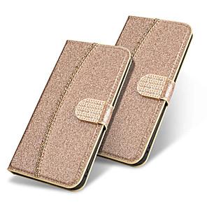 hesapli iPhone Kılıfları-Pouzdro Uyumluluk Apple iPhone 11 / iPhone 11 Pro / iPhone 11 Pro Max Cüzdan / Kart Tutucu / Flip Tam Kaplama Kılıf Solid / Işıltılı Parlak Sert PU Deri