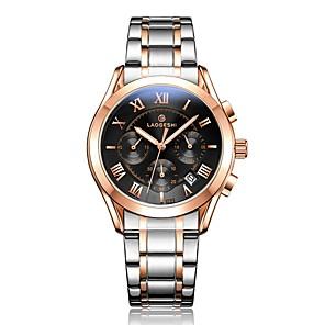 ieftine Imbracaminte & Accesorii Căței-Bărbați Ceas Elegant ceas mecanic Quartz Oțel inoxidabil Argint 100 m Rezistent la Apă Calendar Iluminat Analog Lux Clasic Modă - Negru Argintiu Roz auriu