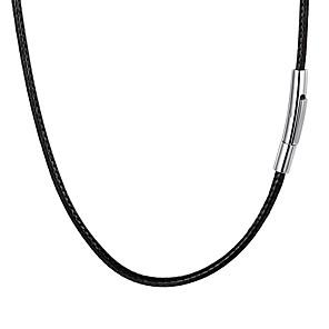 ieftine Coliere-Bărbați Lănțișor Împletit Modă Teak Piele  Negru 55 cm Coliere Bijuterii 1 buc Pentru Cadou Zilnic