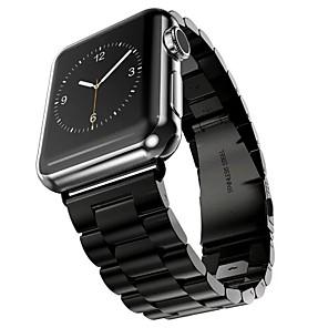 preiswerte Uhren Zubehör-Edelstahl Uhrenarmband Gurt für Apple Watch Series 4/3/2/1 Schwarz / Silber / Gold 23cm / 9 Zoll 2.1cm / 0.83 Inch